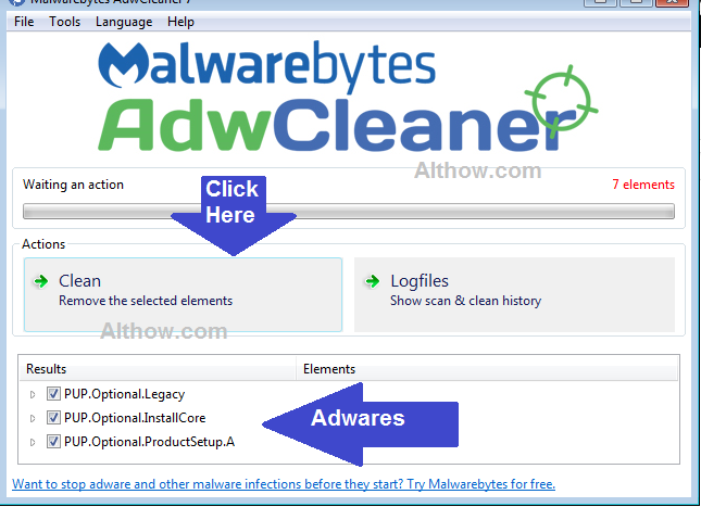 Remove redirect Virus with AdwCleaner Scan.