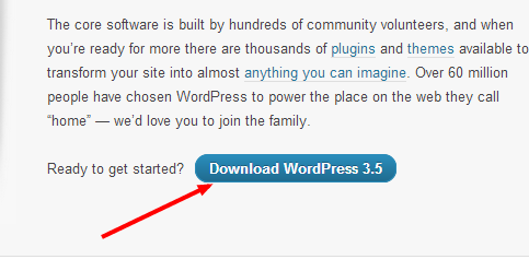 Install wordpress manual