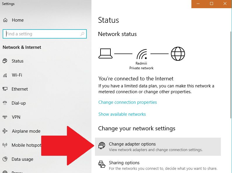 Network & internet settings